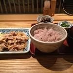ろくまる 五元豚 - ランチ 生姜焼き