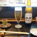 なかむら - まずはビール