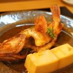 なかむら - 煮魚、入れてねってお願いしていました煮魚、がしら(かさご)でいただきました