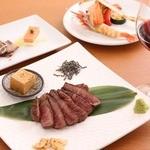 鉄板焼・旬彩 ほづみ - ディナーコース(例)