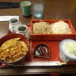41645257 - 蟹足天丼(合盛り膳):1,837円