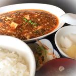 41645413 - 麻婆豆腐+ライスセット(550+300円※税別)