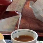 松乃家 - 蕎麦湯