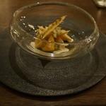 41650612 - 黄金桃、毛蟹、 フロマージュブラン