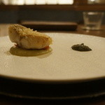 41650619 - 茄子、甘鯛、アンコールペッパー、青柚子