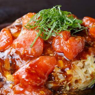 ◆京ちゃばな名物◆トマトお好み焼!!