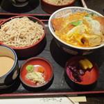 そば処仙波 - カツ丼もりそばセット(クルミタレバージョン)