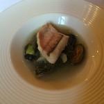 アル・ケッチァーノ - 甘鯛と笑貝とエゲシのスープ