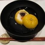 41656515 - 炊き合わせは柚子釜けんちん煮!柚子釜の風味が具材に乗って良い香りで楽しめる
