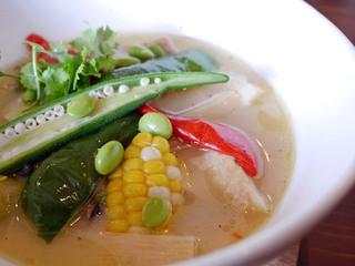 ベースキャンプ - 鶏ももといろいろ野菜のグリーンカレースープ