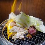 間茶与詩 - ドバッと上がる炎