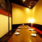 山魚なでしこ - 個室:2Fフロア貸切(2Fは掘りごたつ個室で20~25名様宴会にも対応!)
