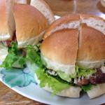 パンコウボウ タケヤ - 料理写真:バーガー類を自宅でカット