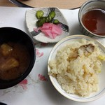 TOTOシーウィンド淡路 - 栗トキノコの炊き込みご飯&味噌汁