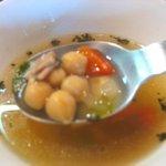 かどっこ - スープの豆や野菜の具