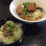 旬麺晴れる家 - 冷麺定食+味玉