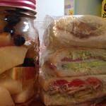 花らんぷ - サンドイッチ用ではないけど、 サンドイッチにしてみました。