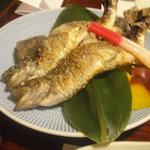 4168569 - 「岩魚の塩焼き」 日本酒と合いますね♪