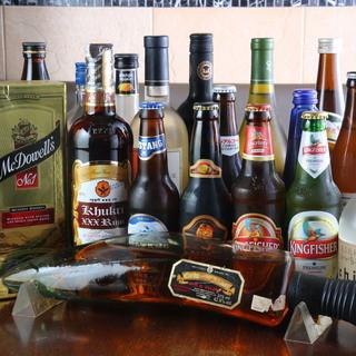 世界各国のビールをご用意してあります♪