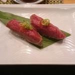 Sushi Shiono - パーカーズランチの牛刺握り