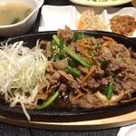 韓国家庭料理 おこげ - 2015年9月/甘辛く味付けされたプルコギは美味!