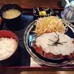 41695403 - しぐれロースカツ定食(1350円税抜)♪
