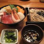 Tengu - 海鮮丼+ミニざるそば