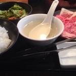 41701629 - 国産牛カルビランチ お肉1.5人盛(1,300円) ライス大盛
