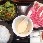 41701630 - 国産牛カルビランチ お肉1.5人盛(1,300円) ライス大盛