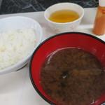 天末食堂 - ご飯、蜆のお味噌汁☆