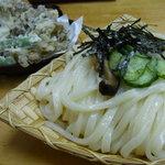 大澤屋 - 料理写真:舞茸天ぷら付き ざるうどん