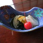 喜乃字 - 3000円コース(酢の物)なまずの酢の物