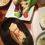 きんのぶた - 冷やし豆腐&豆乳ポテサラ