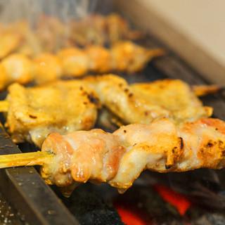 炭火焼により、焼き鳥・野菜の旨味を引き出します!