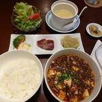 Kaorunshurou - 麻婆豆腐定食(15-09)