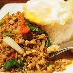 タイレストラン Smile Thailand - ガパオにはたっぷりのガパオ!
