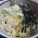 山六 そば店 - 丼セットの冷やしたぬきそば(+100円)