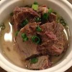41715209 - アミューズ(付きだし)「牛肉の煮込み」。【2015.9】
