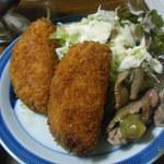 食事処 館 - 今年の500円ランチ「ハムコロ」