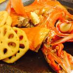 活魚料理 あら磯 - 金目鯛の煮付け