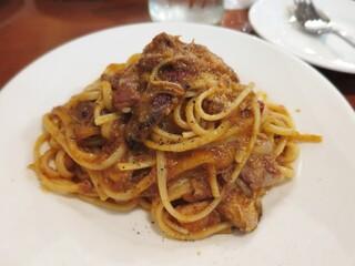 トラットリア フランコ - じっくり煮込んだミートソース(リングイネ)