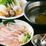 日々酒場 - 旬野菜の四元豚しゃぶしゃぶ鍋旬のスティック野菜