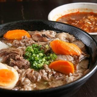 牛すじ辛味つけ麺980円