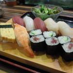 鮨遊膳 みのり - お寿司は7巻とかっぱ、鉄火