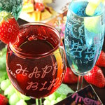 食 - 料理写真:BIRTHDAYグラス