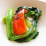 レストラン 花の木 - メイン料理に共通の焼き野菜は別添えで。