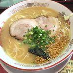 宝来軒 - ラーメン+半チャーハン ¥750