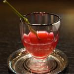 未在 - 2015/8 小梅の蜜煮入り自家製赤紫蘇ジュース