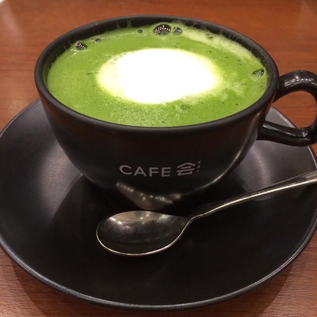 丸の内 CAFE 会 - 宇治抹茶ラテ¥620-