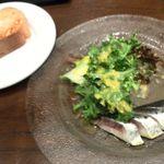 ジローナ - 秋刀魚のカルパッチョ、パン